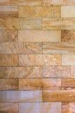 Gele het patroonachtergrond van steenbakstenen Verticaal beeld Royalty-vrije Stock Fotografie
