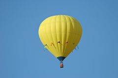 Gele hete luchtballon Royalty-vrije Stock Foto