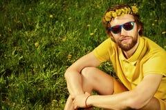 Gele Hipster royalty-vrije stock afbeeldingen