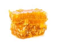 Gele honingraatplakken Stock Foto's