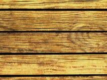 Gele Houten Achtergrond Natuurlijke houten textuur met horizontale lijnen Stock Fotografie