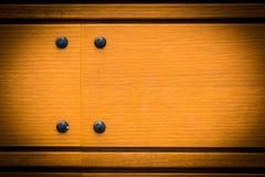 Gele Houten de textuurachtergrond van het vloerpaneel Stock Foto's