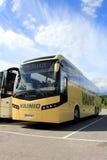Gele Jonckheere-Bus Royalty-vrije Stock Afbeelding