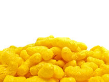 Gele junkfood op wit Stock Afbeelding