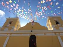 Gele kathedraal Stock Foto