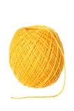 Gele katoenen draad Royalty-vrije Stock Afbeeldingen