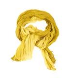 Gele katoenen sjaal royalty-vrije stock foto
