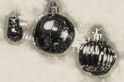 Gele kegels op witte achtergrond De illustratie van de vakantie Stock Afbeelding