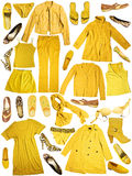 gele kleding Stock Foto's