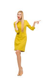 Gele kleding tien Stock Foto