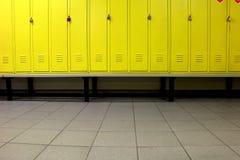Gele kleedkamer Stock Afbeeldingen