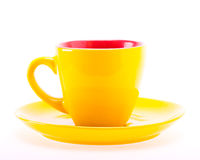 Gele Kleurenkop op Plaat Royalty-vrije Stock Afbeeldingen