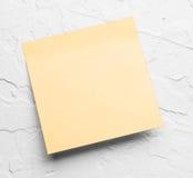 Gele kleverige nota Stock Fotografie
