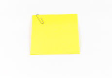 Gele Kleverige Nota Royalty-vrije Stock Afbeeldingen