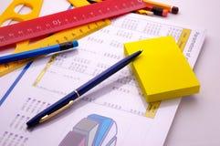 Gele kleverige nota Royalty-vrije Stock Afbeelding