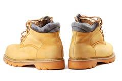 Gele laarzen Stock Foto