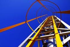 Gele Ladder royalty-vrije stock afbeeldingen