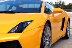 Gele Lamborghini Royalty-vrije Stock Foto's