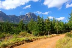 Gele landweg Royalty-vrije Stock Foto