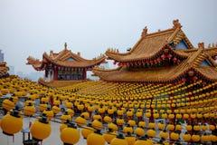 Gele lantaarns in de tempel van Thean Hou Royalty-vrije Stock Foto's