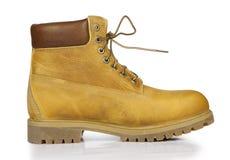 Gele leer modieuze schoenen Royalty-vrije Stock Fotografie