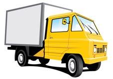 Gele leveringsvrachtwagen Stock Fotografie