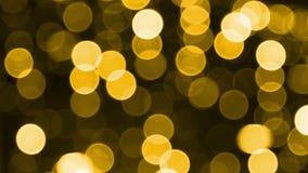 Gele lichteffecten stock footage