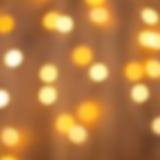 Gele Lichten blur Achtergrond Stock Afbeeldingen