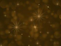 Gele lichten bokeh Royalty-vrije Stock Afbeeldingen