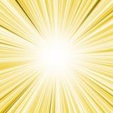 Gele lightburst Stock Illustratie
