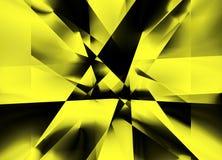 Gele Lijneffect Stijlachtergrond Stock Afbeelding