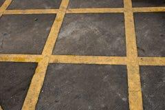 Gele lijnen Stock Fotografie