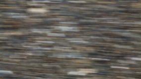 Gele Lijnen die Asphalt Walkway In Blur doorgeven stock video