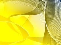 Gele lijnenachtergrond Stock Afbeelding