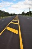 Gele lijnverkeersteken Royalty-vrije Stock Foto