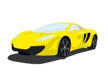 Gele Luxesportwagen Stock Afbeeldingen
