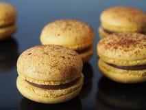 Gele macarons Stock Foto