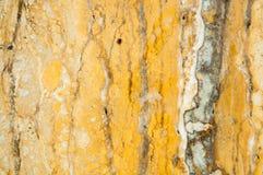 Gele marmeren textuur Marmeren natuurlijk patroon of abstracte achtergrond Stock Afbeeldingen