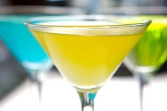 Gele Martini Stock Fotografie