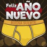 Gele Memoranda voor Latijns-Amerikaanse Omens tijdens Nieuwjaarvooravond, Vectorillustratie vector illustratie