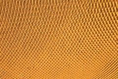 Gele metaaloppervlakte royalty-vrije stock afbeelding