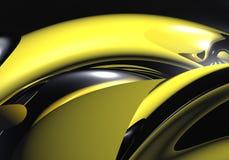 Gele metallringen Stock Foto