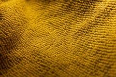 Gele Microfiber-Achtergrond stock afbeeldingen