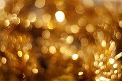 Gele mooie bokeh Stock Foto's