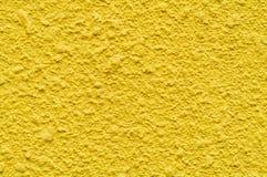 Gele muur Stock Foto