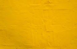 Gele muur Royalty-vrije Stock Foto