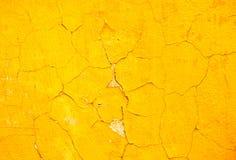 Gele muurachtergrond Royalty-vrije Stock Foto's