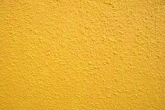 Gele muurtextuur Royalty-vrije Stock Afbeelding