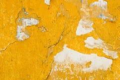 Gele muurtextuur Royalty-vrije Stock Afbeeldingen