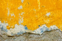 Gele muurtextuur Royalty-vrije Stock Foto's